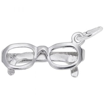 Sterling Silver Glasses Charm