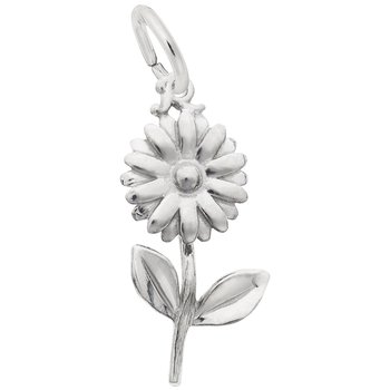Sterling Silver Daisy Charm