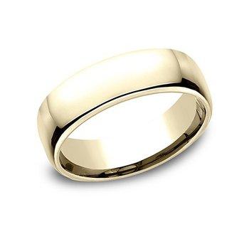 14KY 6.5 mm Comfort Fit Polished Wedding Band, Size 11