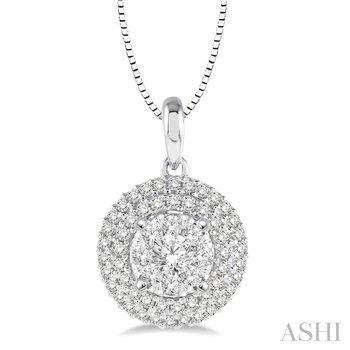 "14KW Diamond Lovebright Pendant w/ 0.35 ctw 18"" Chain"
