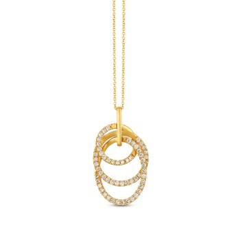 "14KY Diamond Pendant w/ 1.11 ctw,18"" Chain"