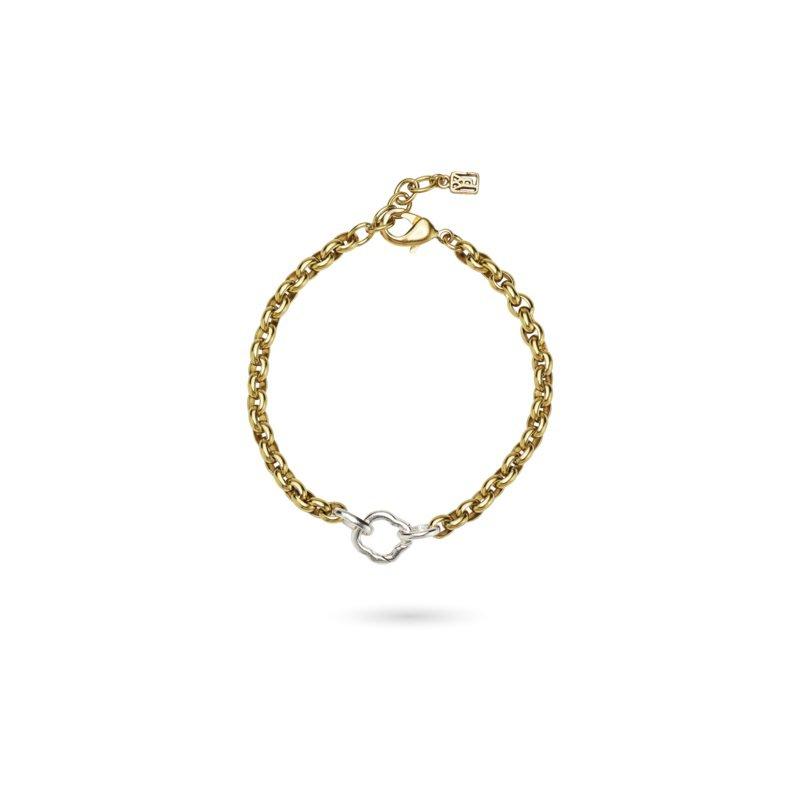 Waxing Poetic Sterling Silver & Brass Stanza One Clip Bracelet