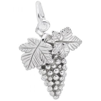 Sterling Silver Grapes Charm