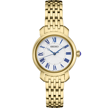 Stainless Steel Gold Tone Essentials Watch w/ Roman Numeral Markers