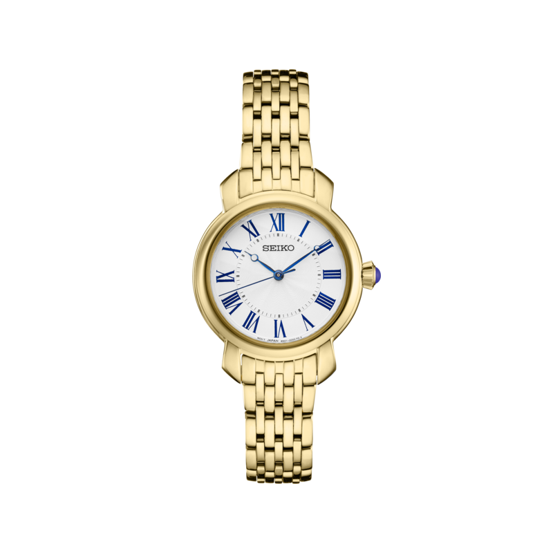 Seiko Watches In Stock Stainless Steel Gold Tone Essentials Watch w/ Roman Numeral Markers