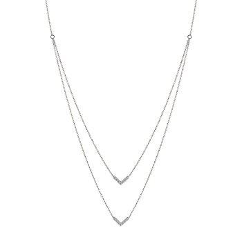 14KW Diamond Necklace w/ 0.25 ctw