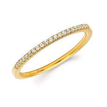 14KY Diamond Band w/ 0.09 ctw, Size 6.5