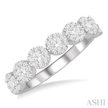 14KYW Round Cut Diamond Lovebright Ring w/ 0.50 ctw Size 7.25