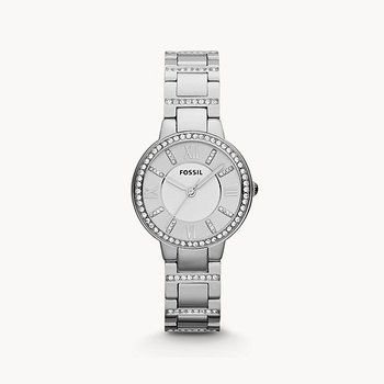 Stainless Steel Watch w/ Crystals