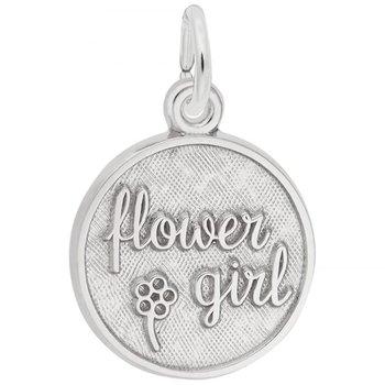Sterling Silver Flower Girl Charm