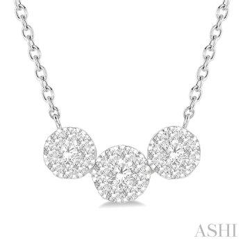 "14KW ""Lovebright"" Diamond Pendant w/ 0.50 ctw, 18"" Chain"