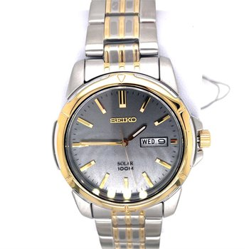 Stainless Steel Two-Tone Solar Watch