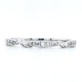 10KW Diamond Stackable Ring, Size 7