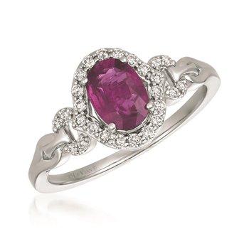14KW Ruby & Diamond Fashion Ring w/ 0.20 ct Dia. & 0.85 ct Ruby