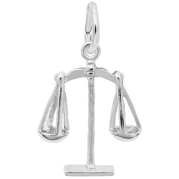 Sterling Silver Scales of Justice Charm