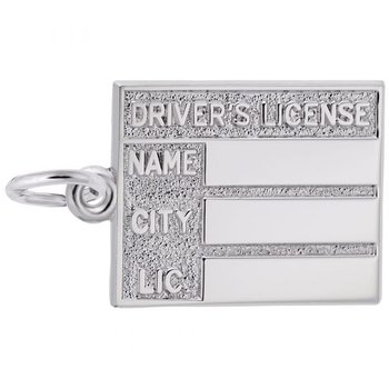 Sterling Silver Driver License Charm