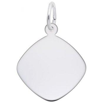 Sterling Silver Rhombus Disc Charm