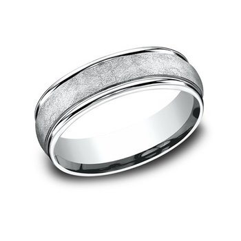 14KW 6.5 mm Comfort Fit Band w/ Swirl Center, Size 10