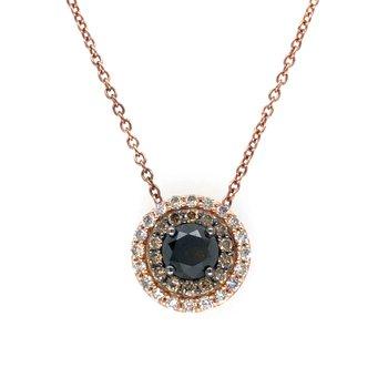 "14KR Diamond Pendant w/ 0.62 ctw, 18"" Chain"