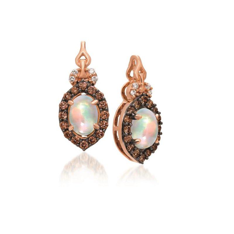 Le Vian In Stock 14KR Opal and Diamond Earrings w/ 0.28 ct Dia. & 0.60 ct Opal