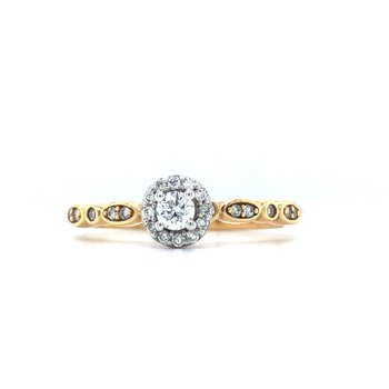 14KW Diamond Stackable Ring w/ 0.25 ctw, Size 7