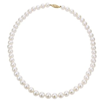 """14KW """"AA"""" Freshwater Pearl Necklace w/ 5 -- 5.5 mm Pearls, 16"""" Chain"""