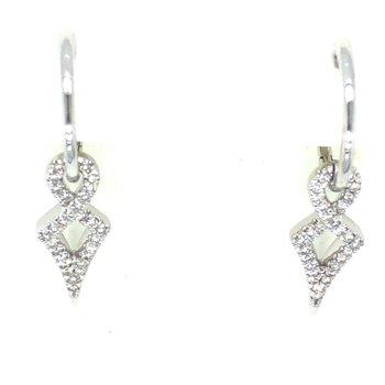14KW Diamond Dangle Earrings w/ 0.27 ctw