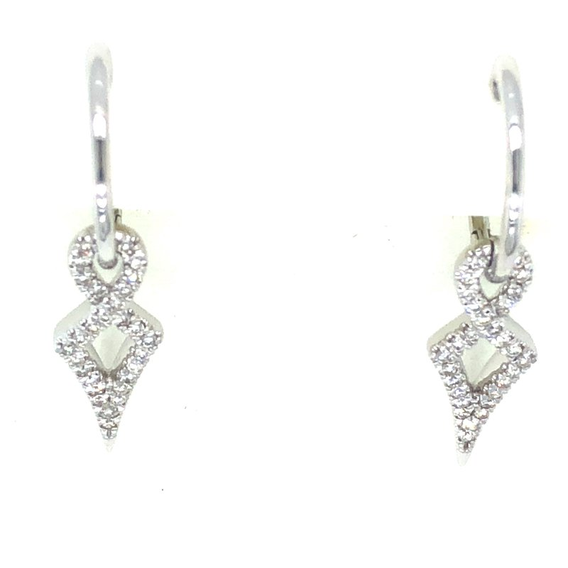 Gabriel & Co. 14KW Diamond Dangle Earrings w/ 0.27 ctw