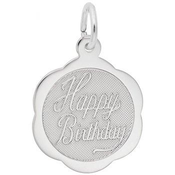 Sterling Silver Birthday Charm