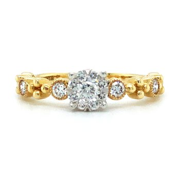 """14KY Diamond """"Lovebright"""" Engagement Ring w/ 0.40 ctw, Size 7.25"""
