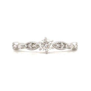 10KW Diamond Engagement Ring w/ 0.33 ctw, Size 7.25