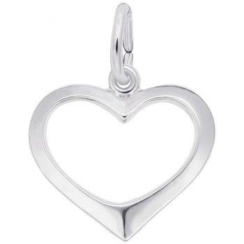 Sterling Silver Open Heart Charm