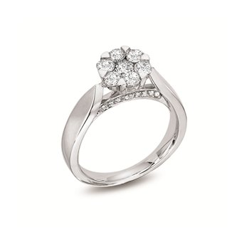 14KW Diamond Engagement Ring w/ 0.50 ctw