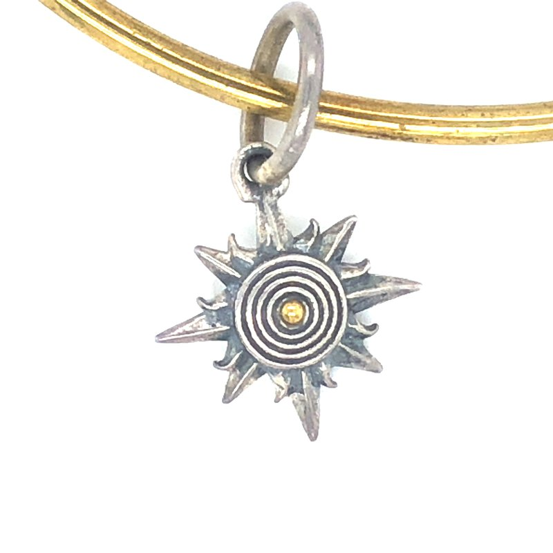 Waxing Poetic Sterling Silver & Brass Supernatural Sun Of Athena Charm