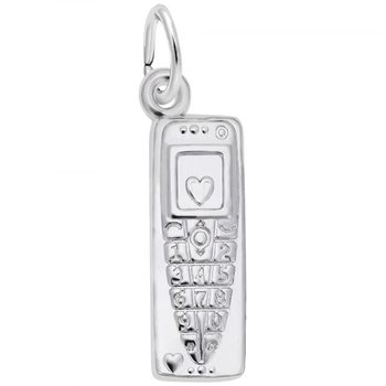 Sterling Silver Cellphone Charm