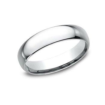 14KW 5 mm Light Comfort Fit Polished Wedding Band, Size 8
