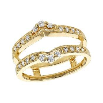 14KY Diamond Ring Guard w/ 0.28 ctw, Size 7