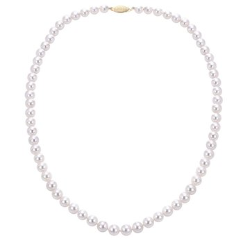 """14KW """"A"""" Akoya Pearl Necklace w/ 7 -- 7.5 mm Pearls, 18"""" Chain"""