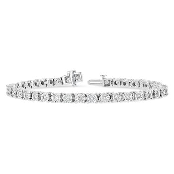 """14KW Diamond Tennis Bracelet w/ 2.0 ctw, 7.25"""""""