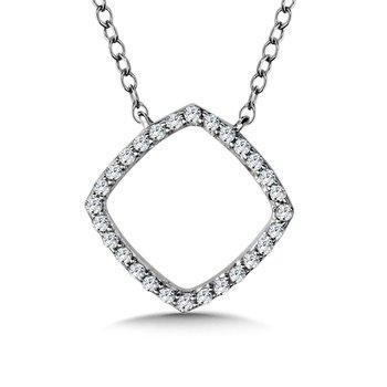 """14KW Diamond Pendant w/ 0.06 ctw, 18"""" Chain"""