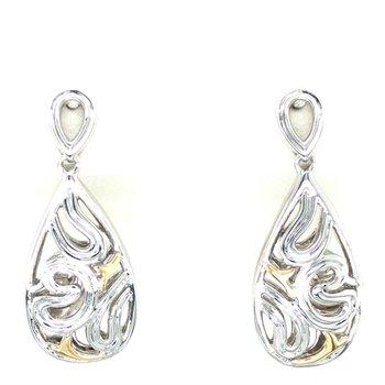 Sterling Silver & 18K Filigree Dangle Earrings