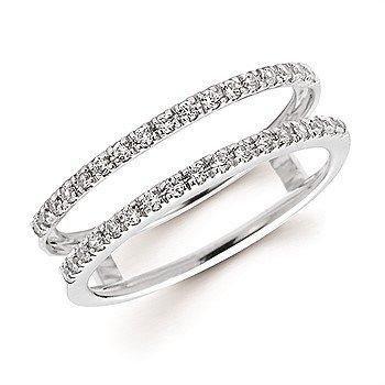 14KW Diamond Straight Ring Wrap w/ 0.25 ctw, Size 6.5