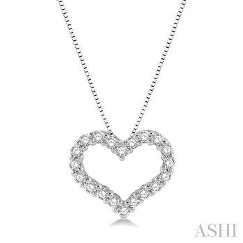 "14KW Diamond Heart Pendant w/ 0.25 ctw 18"" Box Chain"