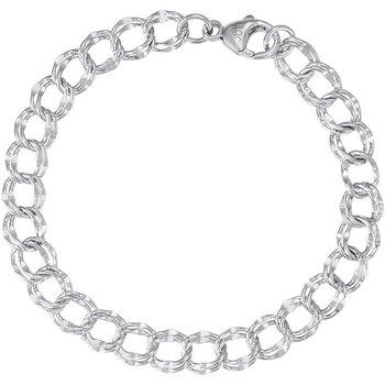 """Sterling Silver Open Link Charm Bracelet 7"""""""