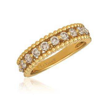 14KW LeVian Diamind Ring w/ 0.68 ctw, Size 7