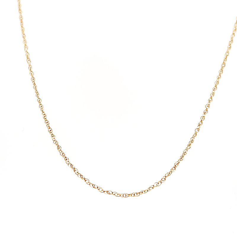 """Green Brothers Collection 10KY 18"""" Light Rope Chain"""
