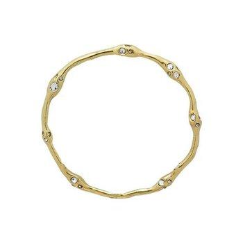 Brass Ursa Circle Pendant