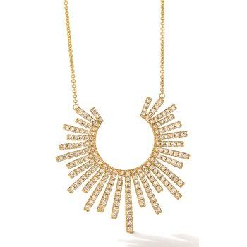 "LeVian 14KY Diamond Free Form Necklace w/ 1.23 ctw, 20"" Chain"