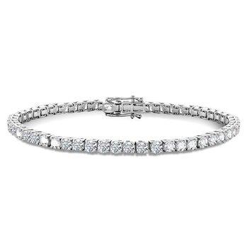 """14KW Round Diamond Tennis Bracelet w/ 7.0 ctw 7"""" Chain"""
