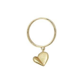 Axiom Dangle Heart Ring, Size 8